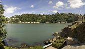 image of dartmouth  - view from dartmouth castle on the estuary of the river dart devon - JPG