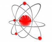 image of neutrons  - Orbital model of atom on a white background - JPG