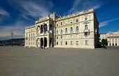 Governmental palace on the main square of Triest, Italy