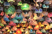 Turkish decorative colorful lamps