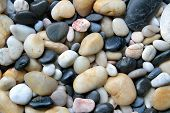 pic of sand gravel  - Pebble stones in crystal clear water  - JPG
