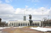 image of lenin  - Finlyandsky railway station and monument to Vladimir Lenin - JPG