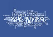 stock photo of hashtag  - Vector concept of social networks with tangled words - JPG