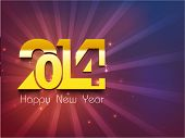 stock photo of calendar 2014  - Happy New Year 2014 celebration party poster - JPG