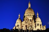stock photo of sacred heart jesus  - Basilica Sacre Coeur (Sacred Heart of Jesus) on Montmartre in Paris France.