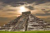 picture of yucatan  - Ancient Mayan pyramid - JPG
