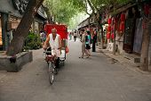 Traditional rickshaw in the Hutongs of Beijing