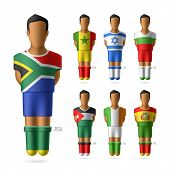 Soccer / football players of national teams. Vector.