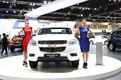 Bangkok - March 25 : Chevrolet Trailblazer 2.8L 4Wd Ltz Car With Unidentified Models On Display At T