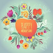 image of easter card  - Happy Mother - JPG