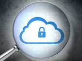 Cloud With Padlock optical glass