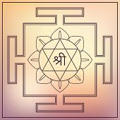 stock photo of sri yantra  - Yantra Hindu Goddess Lakshmi - JPG