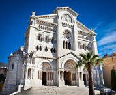 stock photo of nicholas  - View of Saint Nicholas Cathedral in Monte Carlo - JPG