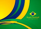 foto of wavy  - Bright wavy background in Brazilian colors - JPG