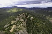 picture of chateau  - Ruins of Chateau de Peyrepeteuse - JPG