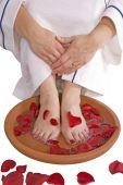 Foot Bath Red Polish poster