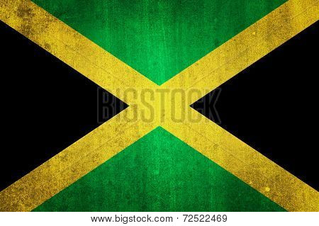 National Flag Of Jamaica Grungy