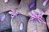 picture of sachets  - Dried lavender sachets basket - JPG