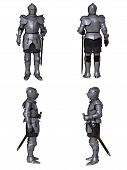 pic of knights  - Illustration of a Medieval knight wearing 15th century Milanese armour - JPG