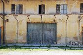 stock photo of derelict  - An old derelict agricultural building in Friuli north east Italy - JPG