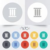 foto of roman numerals  - Roman numeral three sign icon - JPG