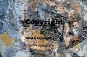 image of plagiarism  - Close up of Copyright text on grunge - JPG