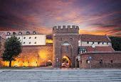 foto of bailey  - Sunset over old town of Torun Poland - JPG