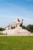 stock photo of bandeiras  - The Bandeiras Monument in ibirapuera park Sao Paulo Brazil - JPG