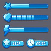 picture of time-piece  - Game ice energy time progress bar icons set - JPG