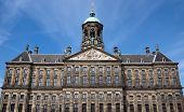 foto of dam  - The Royal Palace at the Dam Square - JPG