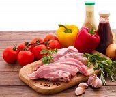 stock photo of meats  - Meat raw steak - JPG