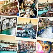 foto of venice carnival  - collage of polaroid photos from Venice - JPG