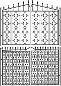 foto of windows doors  - Wrought Iron Gate - JPG