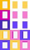 stock photo of letterhead  - Vector set in material style - JPG