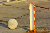 stock photo of ball chain  - Composition with pole - JPG