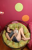 Teenage Girl Reading Book