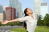 foto of arms race  - Freedom success businesswoman  - JPG