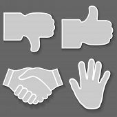 foto of handshake  - Illustration icon hand - JPG