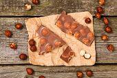 picture of hazelnut  - Delicious milk chocolate with hazelnut - JPG