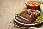 pic of brisket  - barbecue beef brisket - JPG