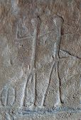 stock photo of mural  - Ancient Murals and carvings in Timna Park Israel - JPG
