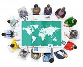 stock photo of globalization  - World Global Business Cartography Globalization International Concept - JPG