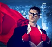 picture of victory  - Strong Superhero Professional Leadership Business Victory Concept - JPG