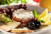 picture of tartar  - Salmon Tartare with Crispy Bread - JPG