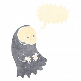 picture of ghoul  - cartoon spooky ghoul with speech bubble - JPG