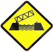 image of movable  - Warning road sign in Indonesia - JPG