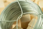 picture of coil  - Coil of soft fictile pliable tin wire with bonding parts - JPG