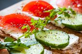 picture of crisps  - Healthy food breakfast sandwiches - JPG