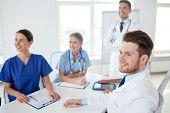 stock photo of mentoring  - medical education - JPG
