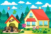 foto of dog-house  - House with dog theme 1  - JPG
